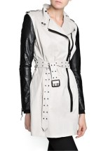 Mango, Leather Sleeve Trench Coat, Php 8, 450