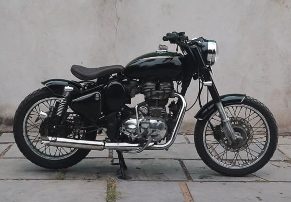 Royal Enfield 350 Bobber Side View
