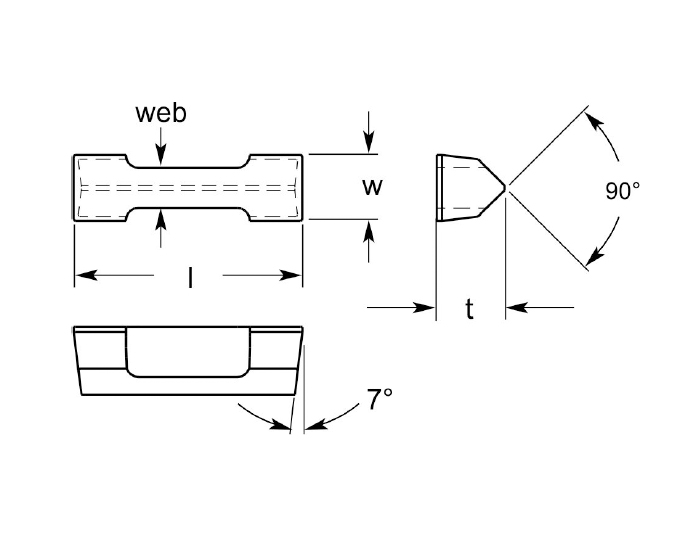 part no. (example: VNRA321) UDB125-7DEG, 0.137/0.147 Inch