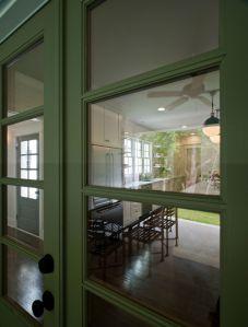 Indoor seating area through door 2