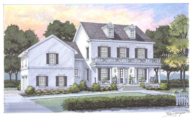 House for Hope Rendering, Carbine & Associates, Ben Johnson Illustrations, Nashville, TN