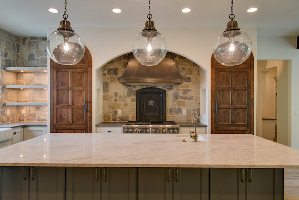Contemporary Tuscan Home, stone backsplash, Carbine & Associates, Franklin, TN.jpg