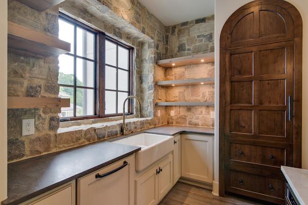 Stone Wall, Contemporary Tuscan Home, Carbine & Associates, Franklin, TN.jpg