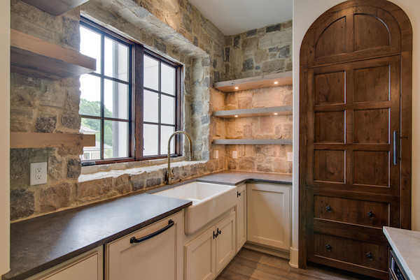 Stone Wall, Contemporary Tuscan Home, Carbine & Associates, Franklin, TN.jpg