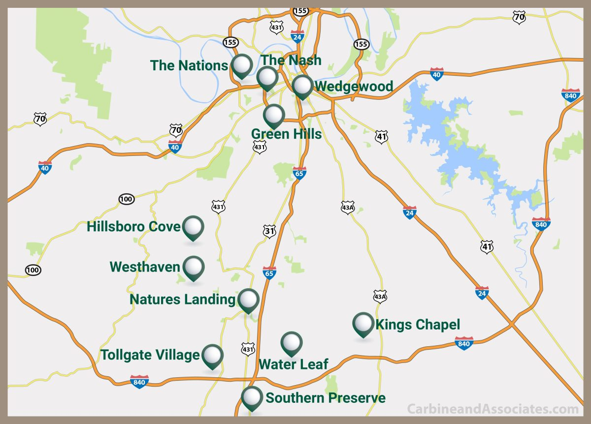 Nashville Community Map