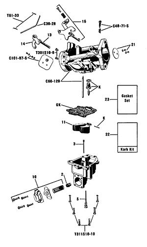 Zenith 13660 Carburetor Kit, FLoat and Manual