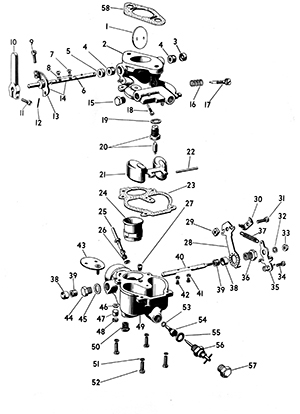 Zenith 10981 Carburetor Kit, FLoat and Manual