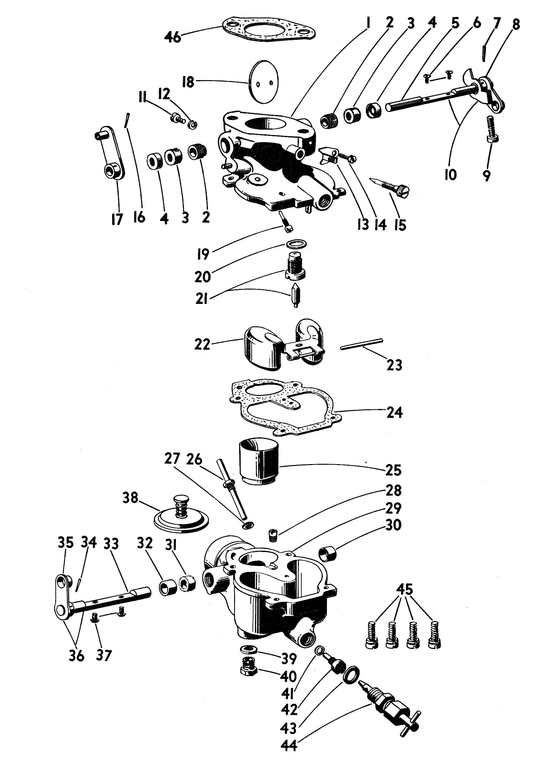 Zenith 12778 Carburetor Kit, FLoat and Manual