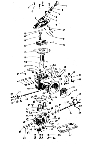 Zenith 11749 Carburetor Kit, FLoat and Manual