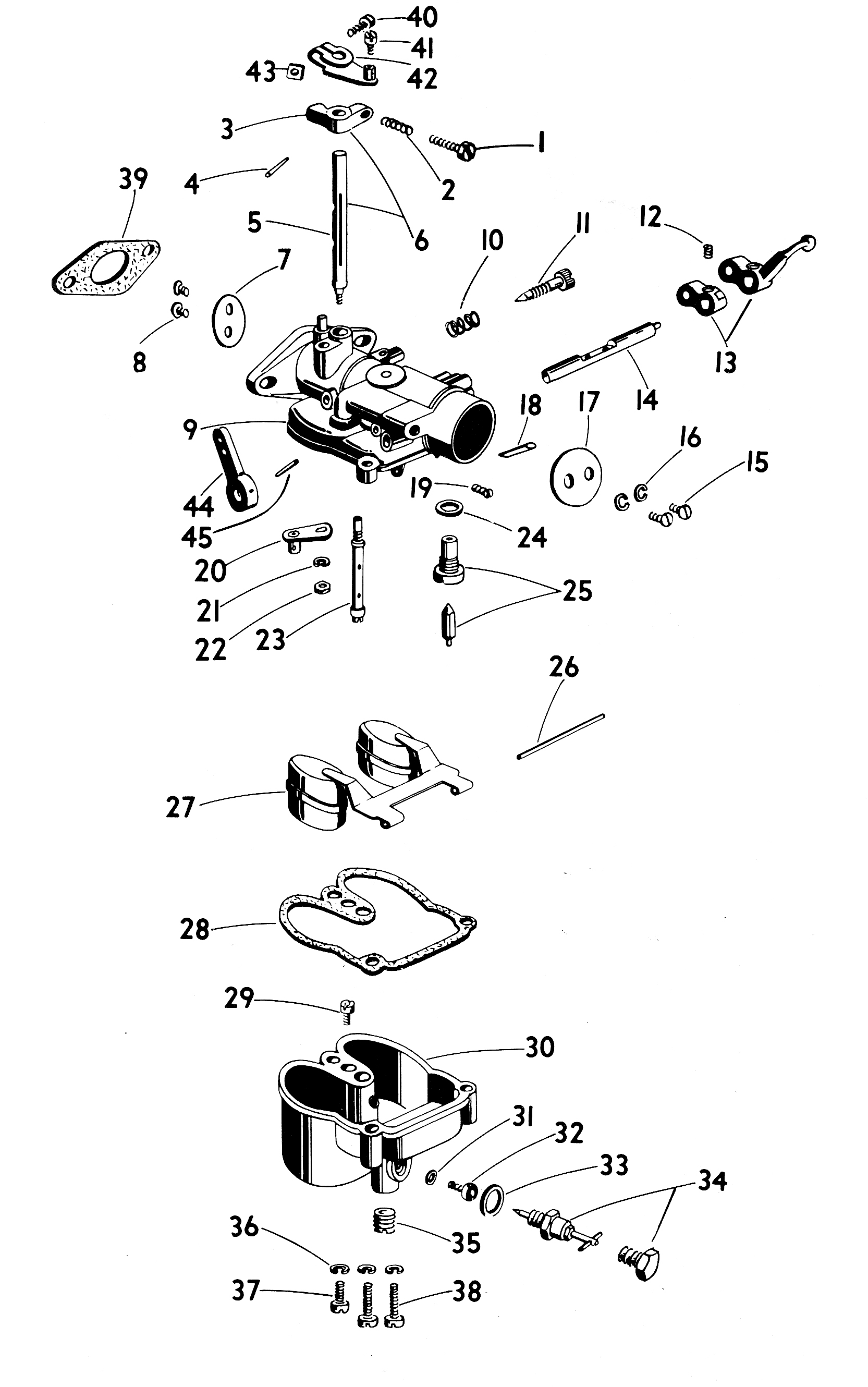 Zenith 13017 Carburetor Kit, FLoat and Manual