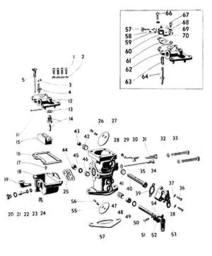 Zenith 10368 Carburetor Kit, FLoat and Manual