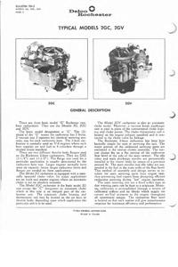CK11 Rochester 2G carburetor kit