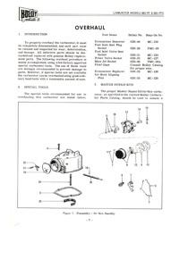 cm409 Holley 885-FF and 885-FFG Carburetor Manual