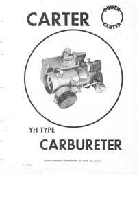 Carburetor service manuals