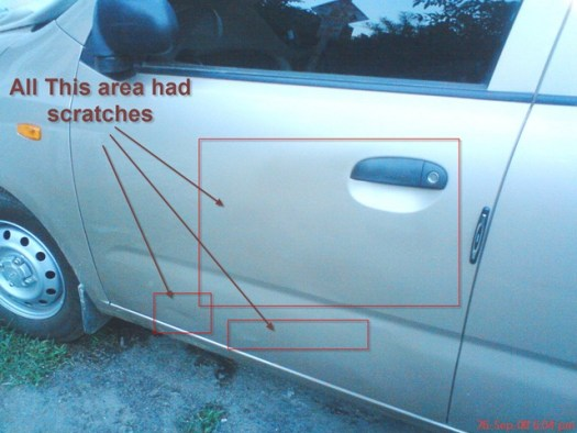 Scratches Removed From The Car Door