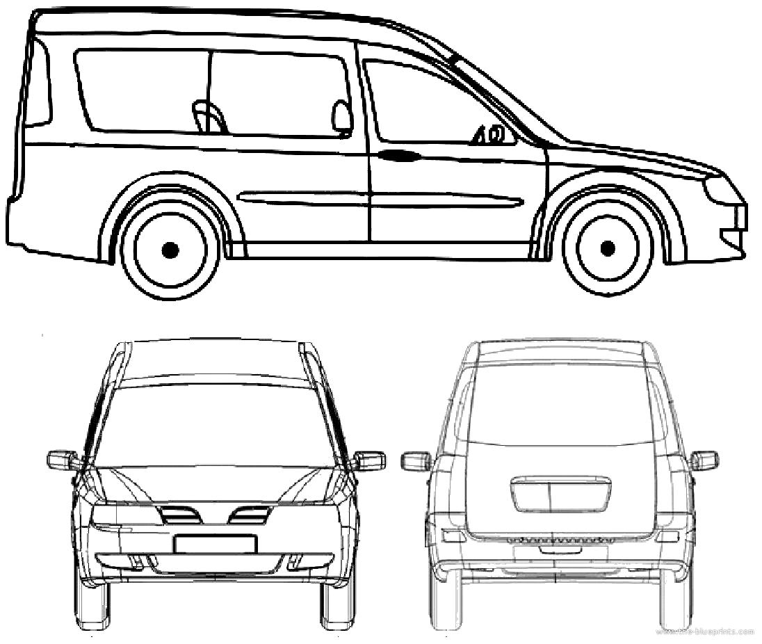 2006 Chery Karry Minivan Blueprint
