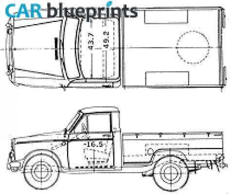 1963 Datsun Pick Up 320l Blueprint