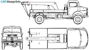 CAR blueprints  MercedesBenz LA328 Tow blueprints