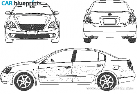 Sketches of nissan altimas