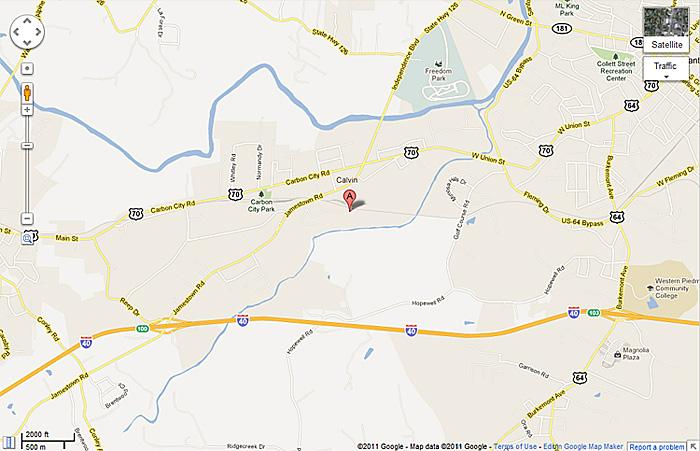 City Morganton Nc Map