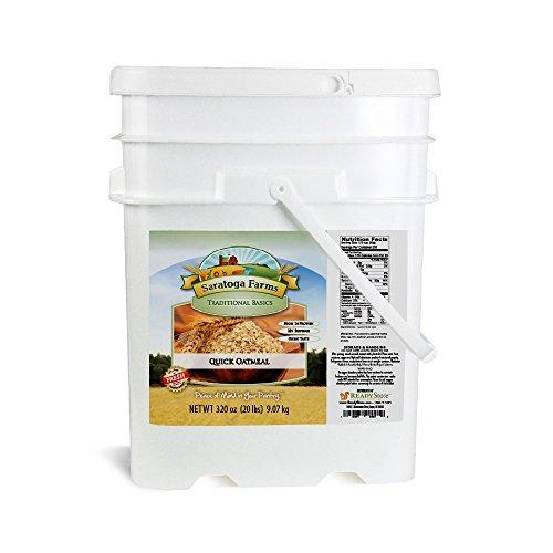 Saratoga Farms Quick Oatmeal ValueBUCKET, 5.3-Gallon ...
