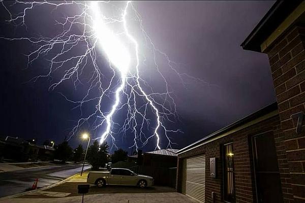 Carbon Monoxide Myths, lightning strikes house