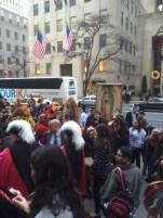Mexican Saint's procession into St. Patrick