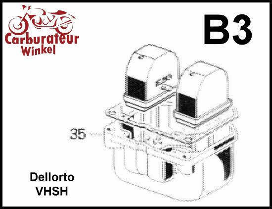 Dellorto VHSH Carburateur Onderdelen
