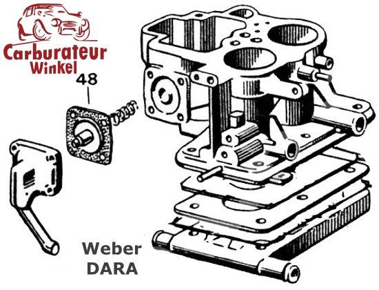 Weber DARA Carburateur Onderdelen