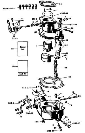Zenith 12009 Carburetor Kit, FLoat and Manual