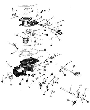Zenith 12544 Carburetor Kit, FLoat and Manual
