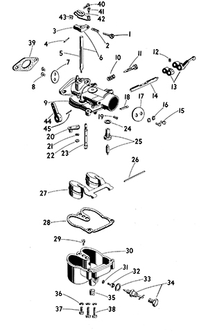 Zenith 13714 Carburetor Kit, FLoat and Manual