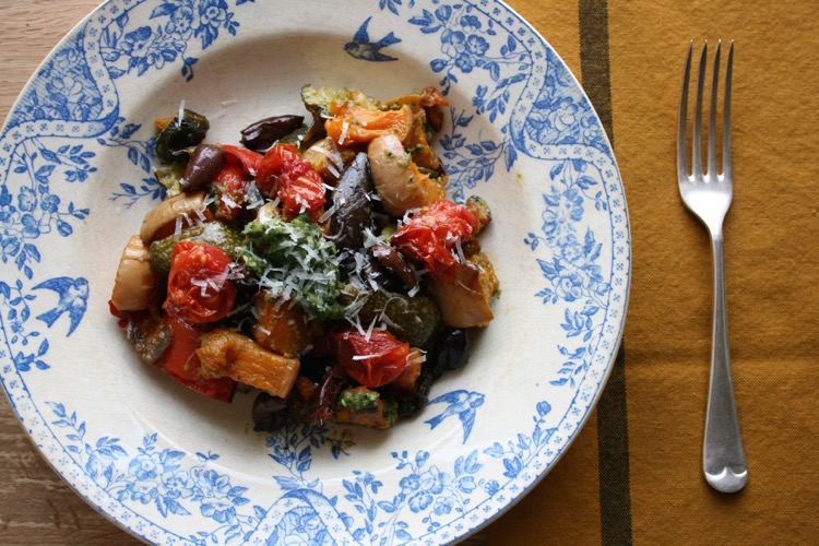 Pesto and pasta