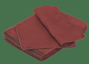 burgundy window waffle towel
