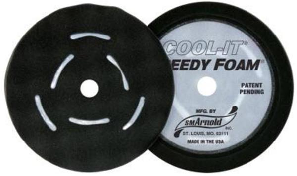 black speedy foam waffle pads