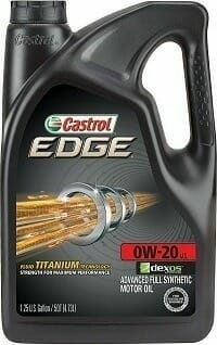 Castrol 03124 EDGE 0W-20 Advanced Full Synthetic Motor Oil