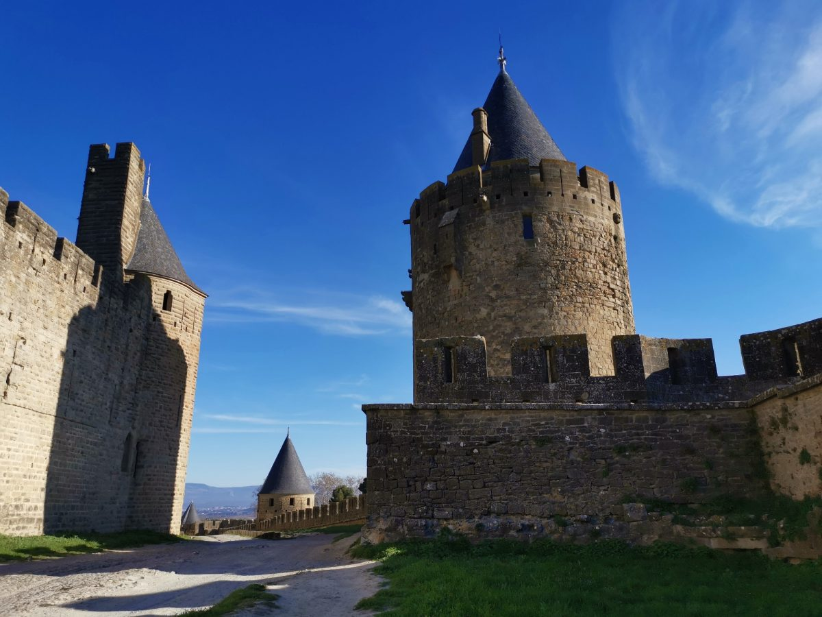 Tower of the vade city of carcassonne