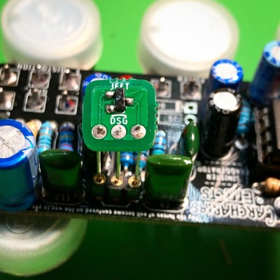 SMD to JFET conversion daughterboard example PCB for DIY projects