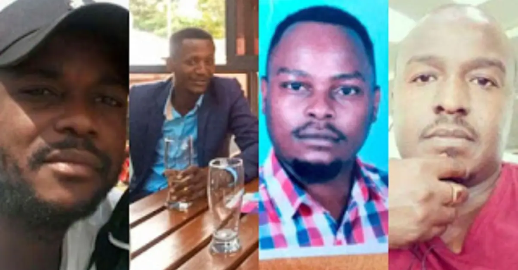Records showed a suspect who had the same name as Benjamin Imbai Amache (third from left) was arrested last year. Photo: The Standard.