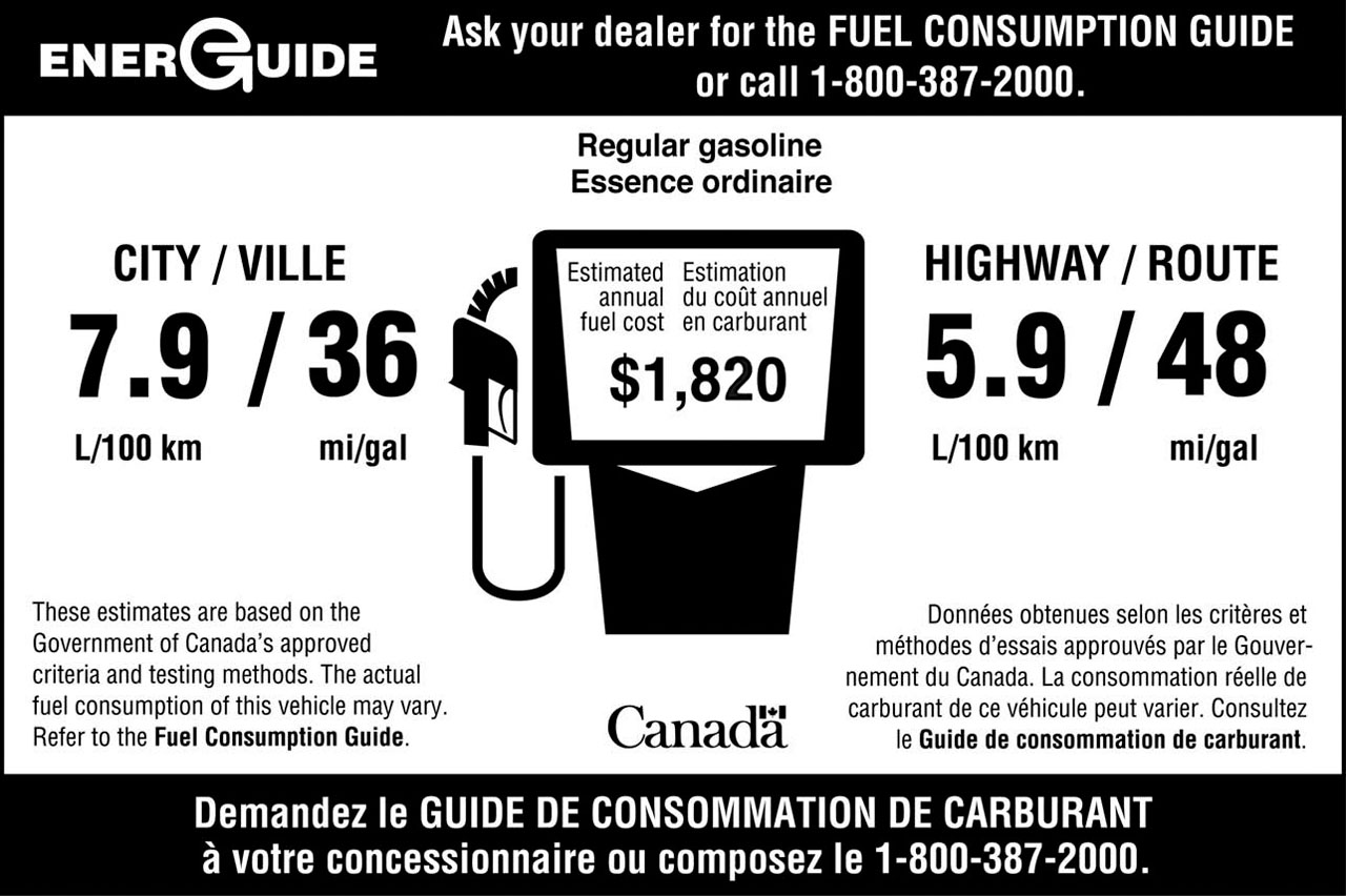 Government of Canada announces new fuel economy rating