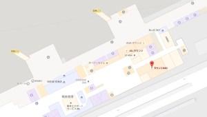 熊本空港 ラウンジASOの地図(国内線ターミナル2階