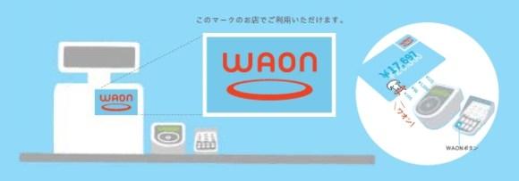 WAONの支払での使い方