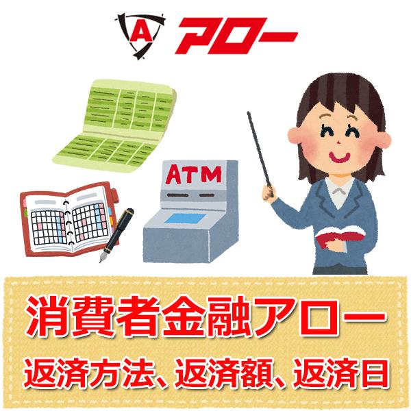消費者金融アロー【返済方法、毎月の返済額、返済日】