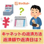 消費者金融キャネットの返済方法【月々の返済額や返済日】
