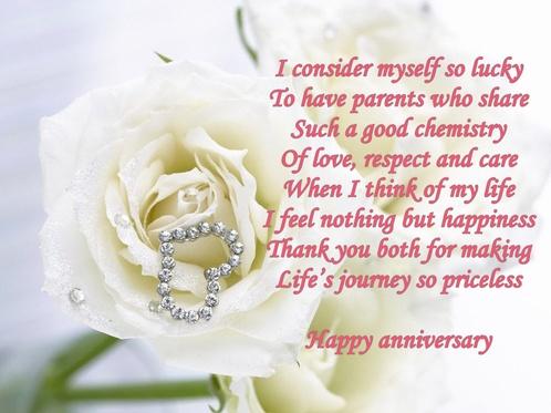 Parents Wedding Anniversary Verses Card Verses