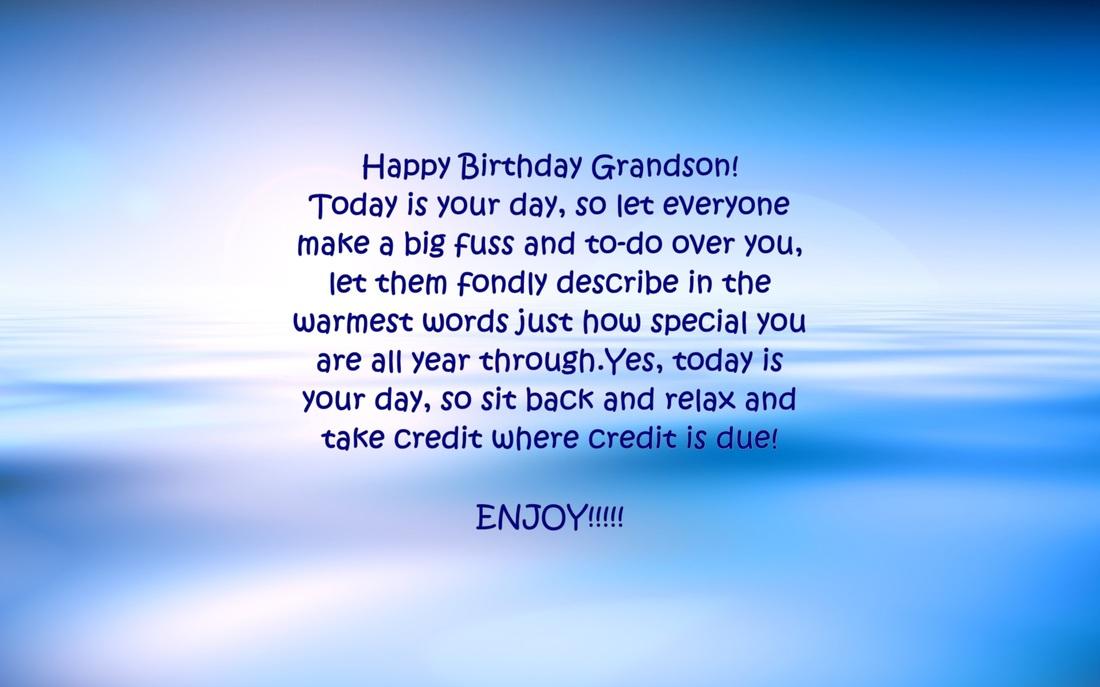 Birthday Grandson Great Wishes Happy