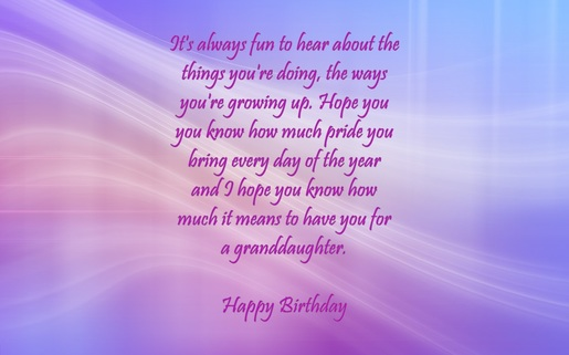 Granddaughter Birthday Verses Card Verses Greetings And