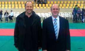 En Joan Planes (delegat d'esports) i en Pep Mascaró