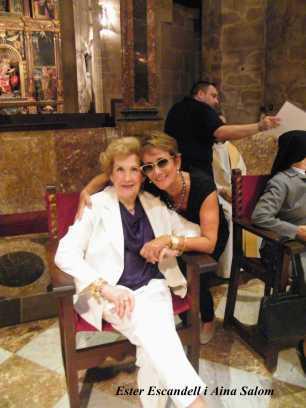 Ester Escandell , mare de Fra Pere amb Aina Salom 4-10-2013