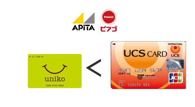 UCSカードの方がユニコよりお得